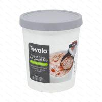 Ice cream tub Tovolo SWEET TREAT 1.0 l, oyster gray