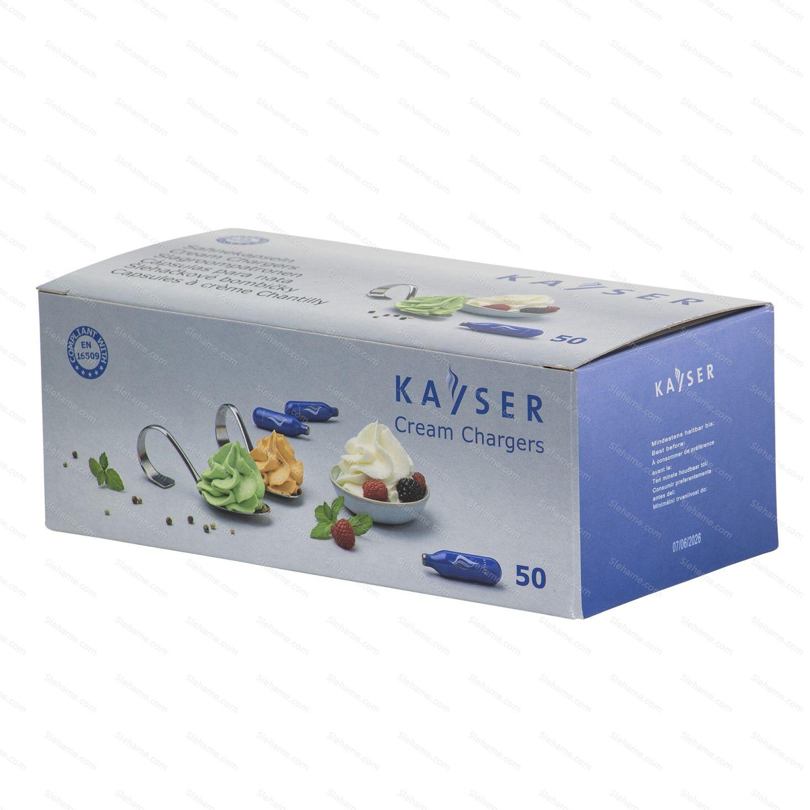 Cream chargers Kayser 7.5 g N2O, 50 pcs (disposable)